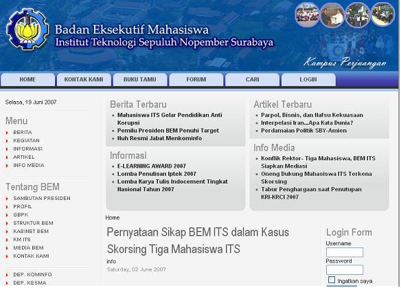 Website BEMITS