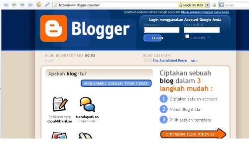 halaman depanblogger